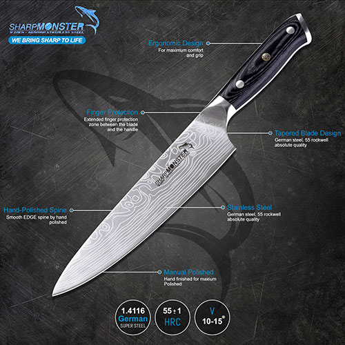 Sharp Monstar Knife- Premium Quality Amazon FBA Listing Image Editing, Amazon Image Infographics, Design, Lifestyle, Infographics & Features Images