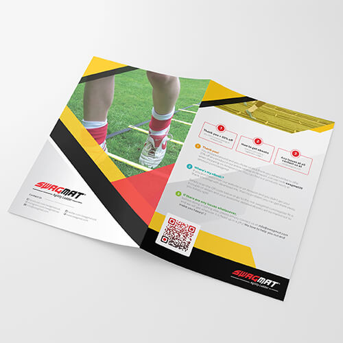 Swag Mat- Amazon FBA Product Insert, Flyer, Thank You Design, Amazon Image Infographics