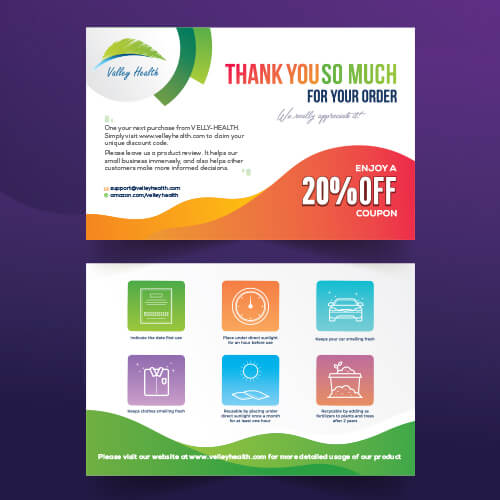 Urban Tec- Amazon Product Insert, Flyer, Thank You, Amazon Image Infographics